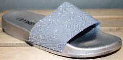 Шлепки на лето женские J.B.P. Shoes Nu1213 Silver.