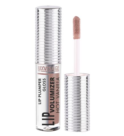 LuxVisage Блеск-плампер для губ  LIP volumizer hot vanilla, тон 306 Ice Taupe,Unicorn 2.9г