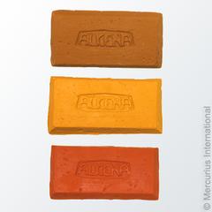 Пластилин натуральный для лепки - красный/200 гр (Alkena)