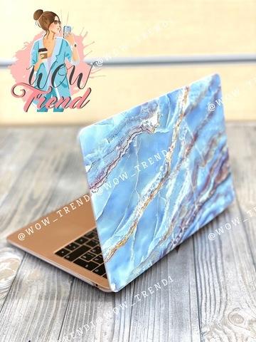 Накладка пластик MacBook Pro 13,3 Retina /picture marble blue/ DDC