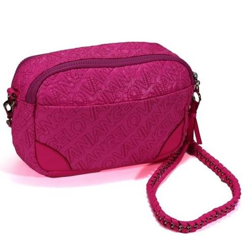 Розовая сумка с декоративной прострочкой