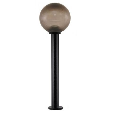 Садово-парковый светильник шар дымчатый призма D250mm с пластиковой опорой H1000mm