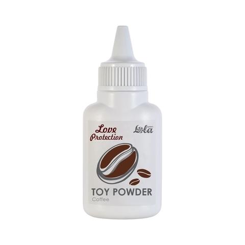 Пудра для игрушек проматизированная Lola Toys Love Protect ion Кофе 15г