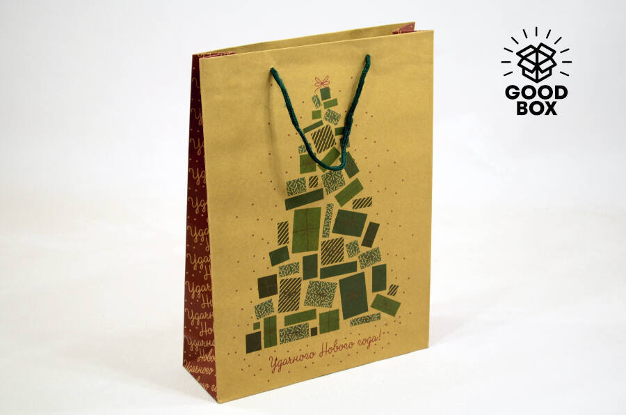 Бумажные пакеты на Новый год в Алматы