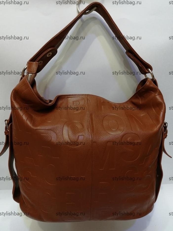 Женская сумка из кожи рыжего цвета NF190902