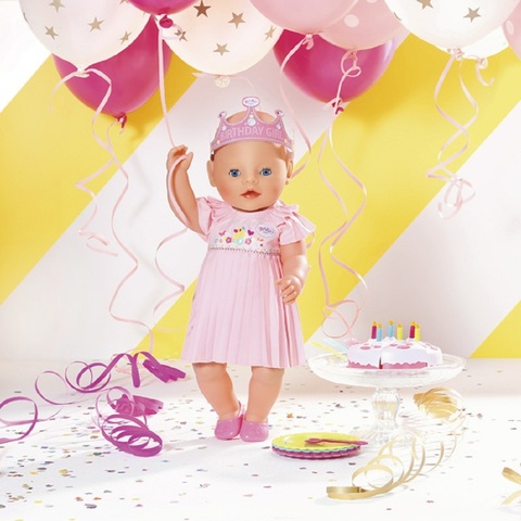 Беби Бон кукла Нарядная с тортом 43 см