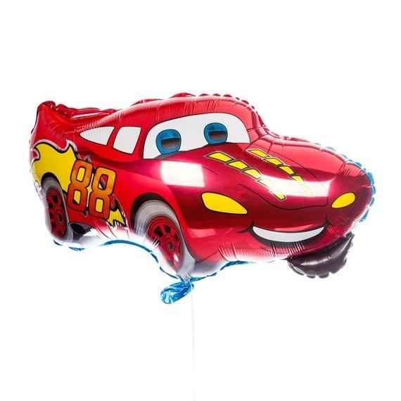 Фольгированный шар «Машина гоночная» красный, 81 см