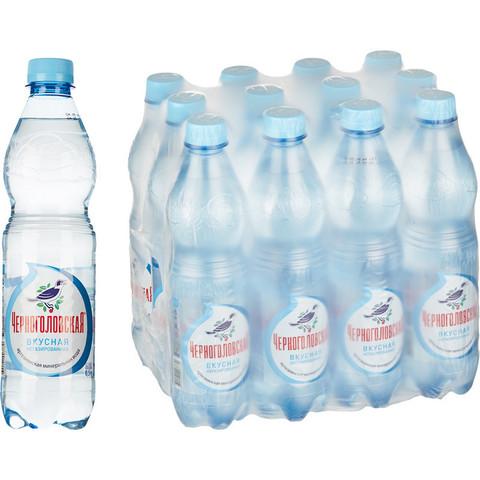 Вода минеральная Черноголовская негазированная 0.5 л (12 штук в упаковке)