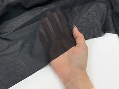 Сетка эластичная черная Lauma, плотная (метражом)