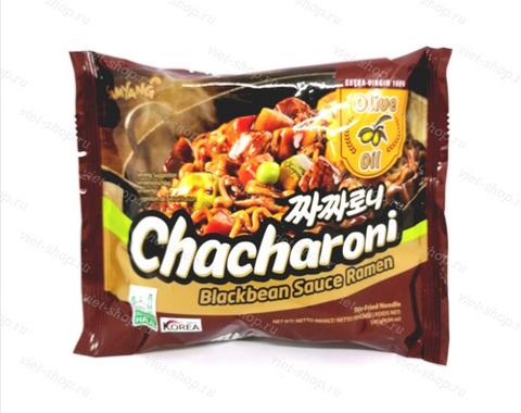 Корейская лапша с соусом из черных соевых бобов (чаджан), Samyang, 140 гр.