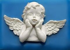 Силиконовый молд Мечтательный ангел  № 13