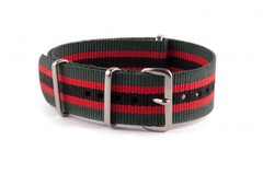 Nato Strap Green Red Black
