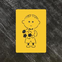 Ученик №9 Мальчик с цветами