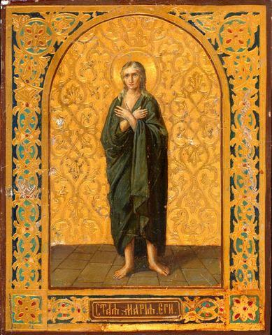 Икона святая Мария Египетская на дереве на левкасе мастерская Иконный Дом