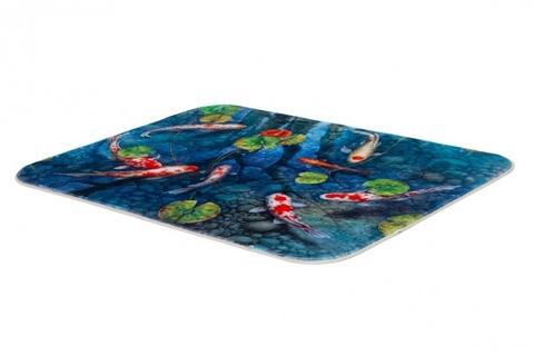Плюшевый коврик 140х200 см (Пруд удачи)