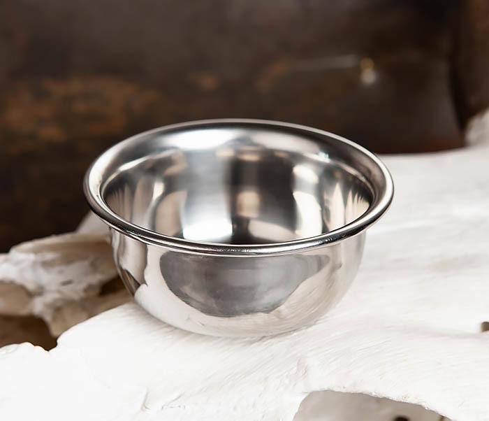 RAZ344 Чаша для бритья из стали с двойными стенками
