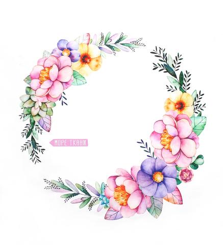 Панель(купон) цветы и алмаз-80*80 см