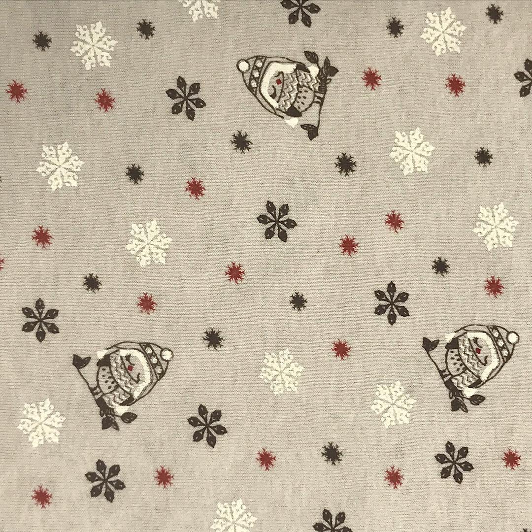ФЛАНЕЛЬ снегири - детская простыня на резинке 65х125
