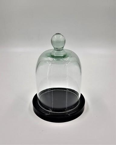 Стеклянная колба (Колпак, клош, купол, ваза, цилиндр) с ручкой 10*9 см