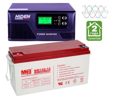 Комплект ИБП HPS20-1012-АКБ MM150 (12в, 1000Вт)