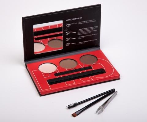 OG-EB2102 Палетка теней+воск для моделирования бровей проф. №03 Brow Professional Palette