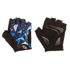 Велоперчатки JAFFSON SCG 46-0384 (чёрный/белый/синий)