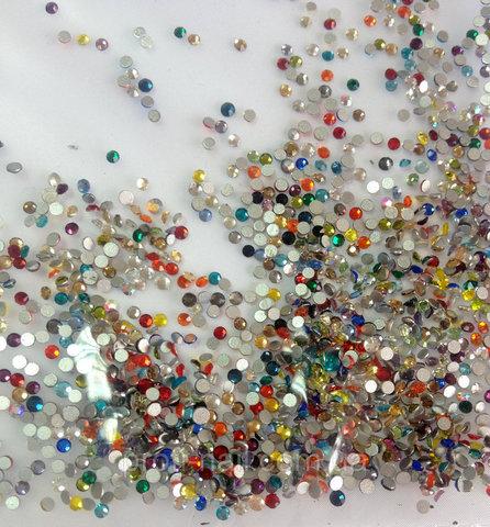 Стразы SS3 микс 20 цветов 1200 шт