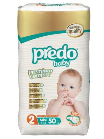 Predo. Подгузники Baby Преимущественная пачка № 2 (3-6 кг Mini), 50 шт.