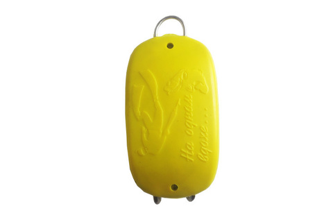 Груз 1 кг быстросъемный с пластиковым покрытием жёлтый
