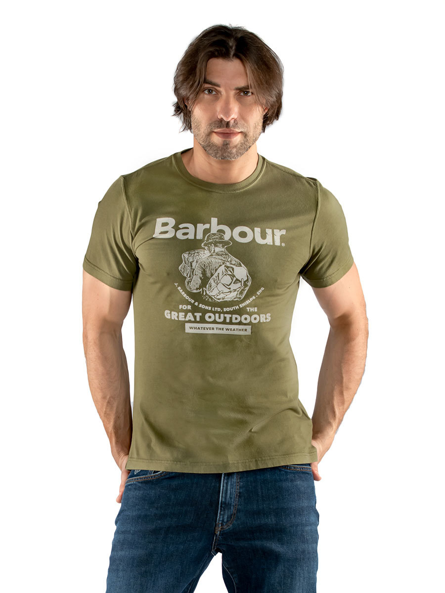 Barbour футболка Outdoors Tee MTS0676/GN15