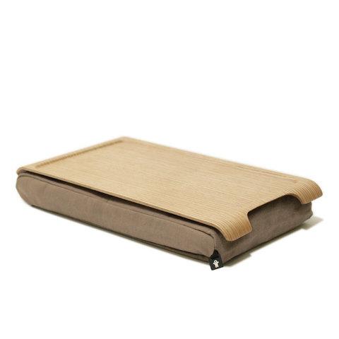 Подставка с деревянным подносом laptray мини дерево-песчаная