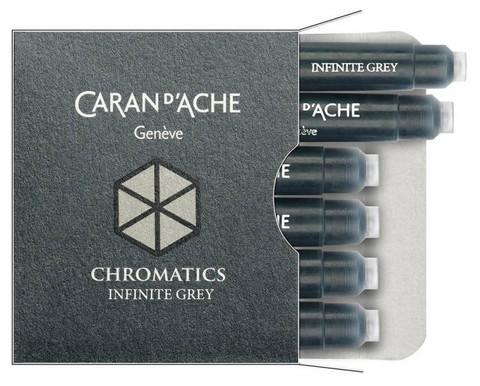 Carandache Чернила (картридж), серый, 6 шт в упаковке