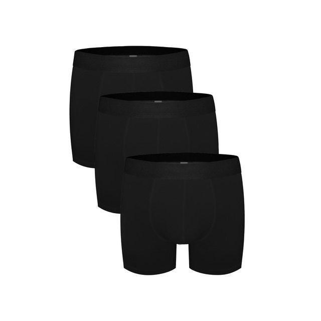 Трусы мужские боксеры набор 3в1 черные DARKZONE DZN3333SY