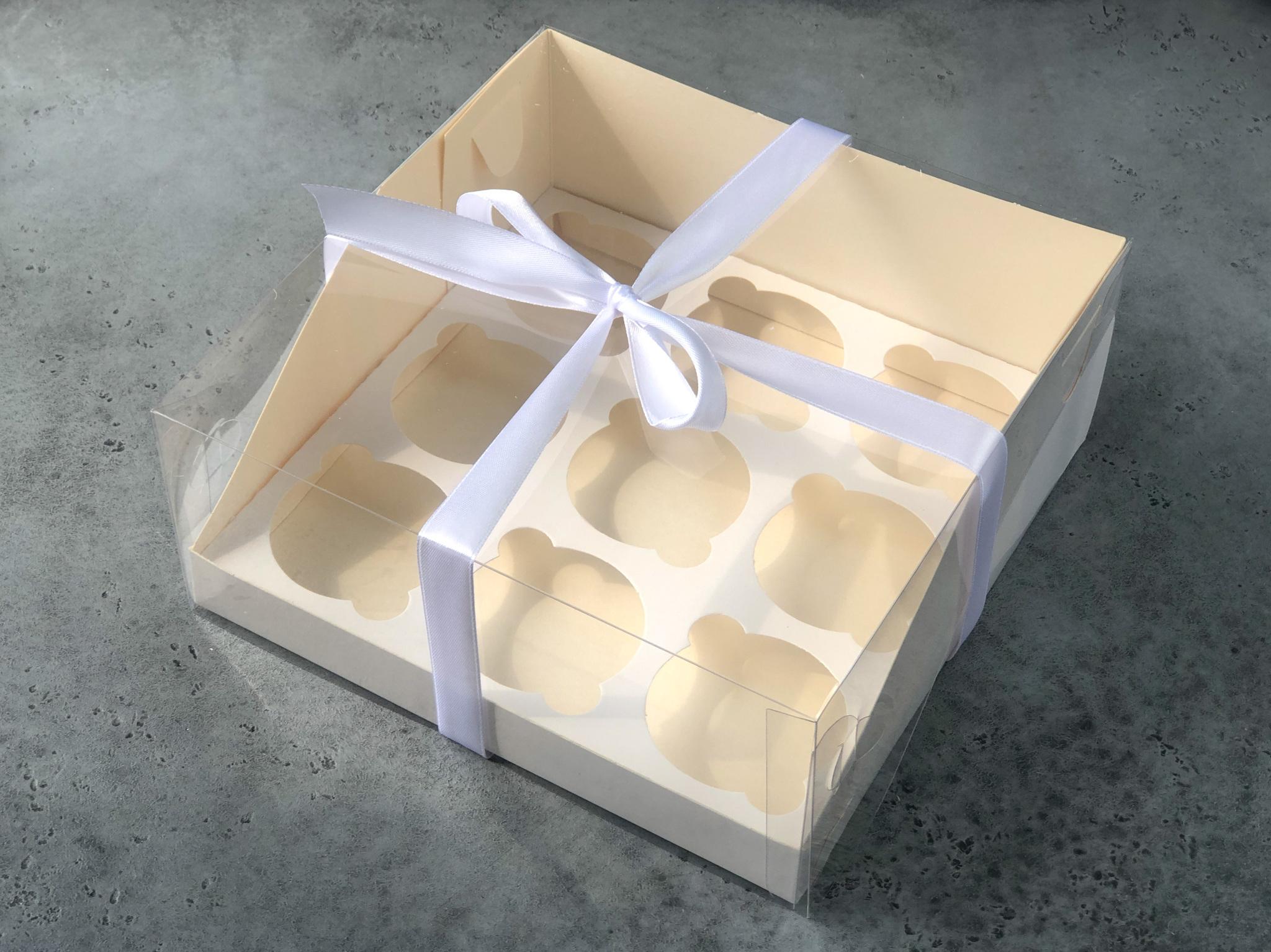 Коробка на 9 капкейков с прозрачной крышкой, 23,5х23,5х10 см