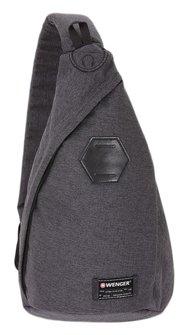 Рюкзак из ткани Grey Heather с одним плечевым ремнем (7 л) WENGER 2607424550