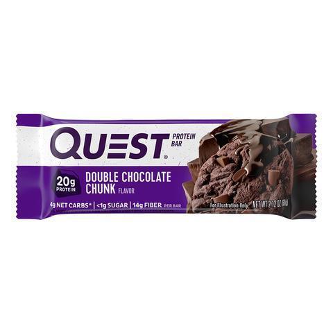 Протеиновые батончики Quest Bar Double Chocolate Chunk (Шоколадный батончик с кусочками шоколада), 1 шт