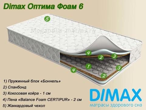 Матрас Dimax Оптима Фоам 6 от Мегаполис-матрас