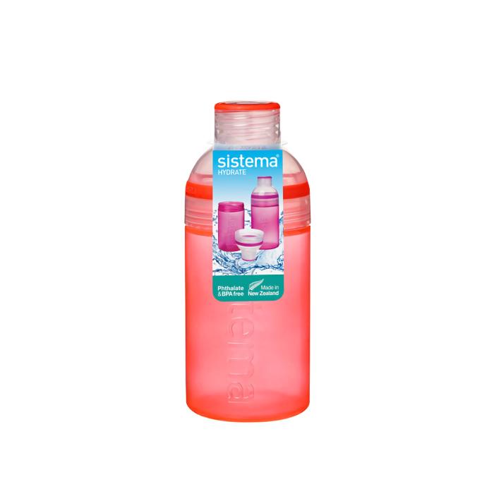 """Бутылка для воды Sistema """"Hydrate"""" 480 мл, цвет Красный"""