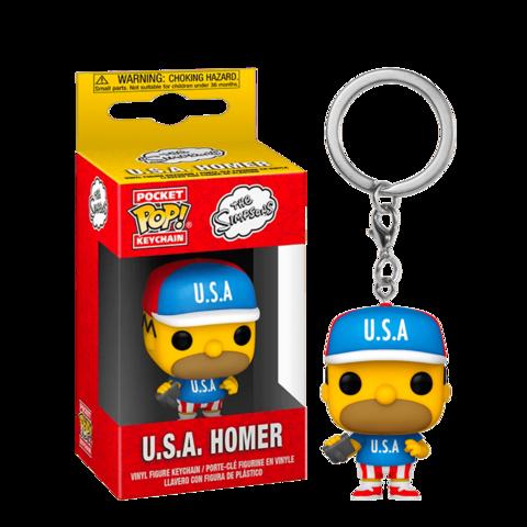 Брелок Funko POP! Keychain Simpsons: U.S.A. Homer || C.Ш.А. Гомер