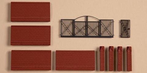 Кирпичный Забор с воротами, (H0)