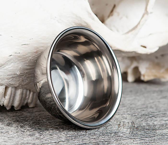 RAZ344 Чаша для бритья из стали с двойными стенками фото 04
