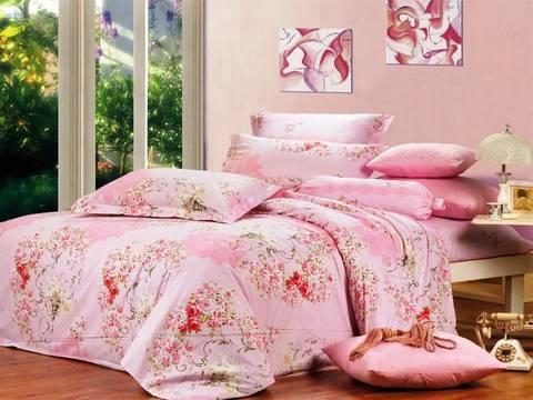 Сатиновое постельное бельё  1,5 спальное Сайлид  В-94-1