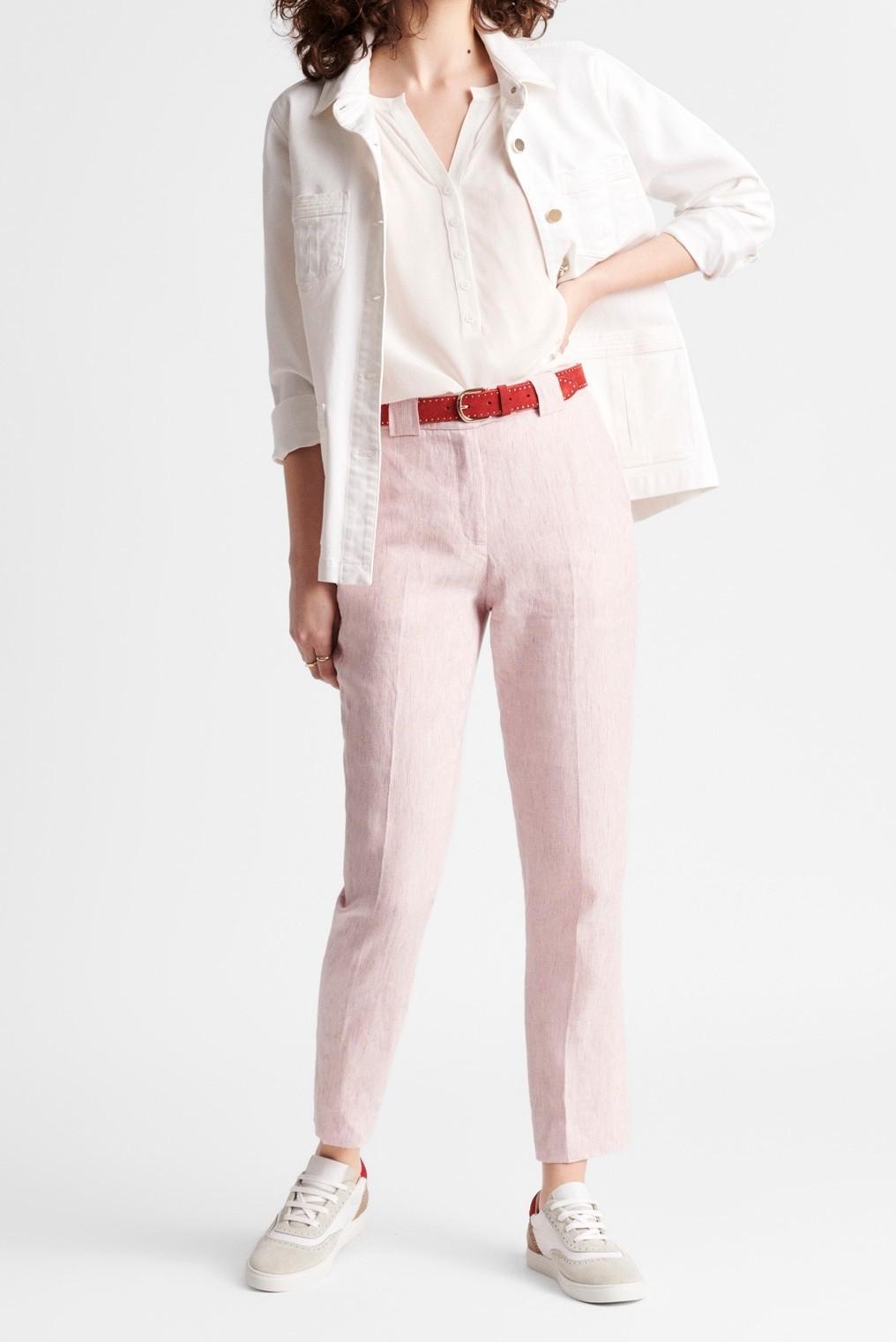 MORGANA - брюки длины 7/8 из льна