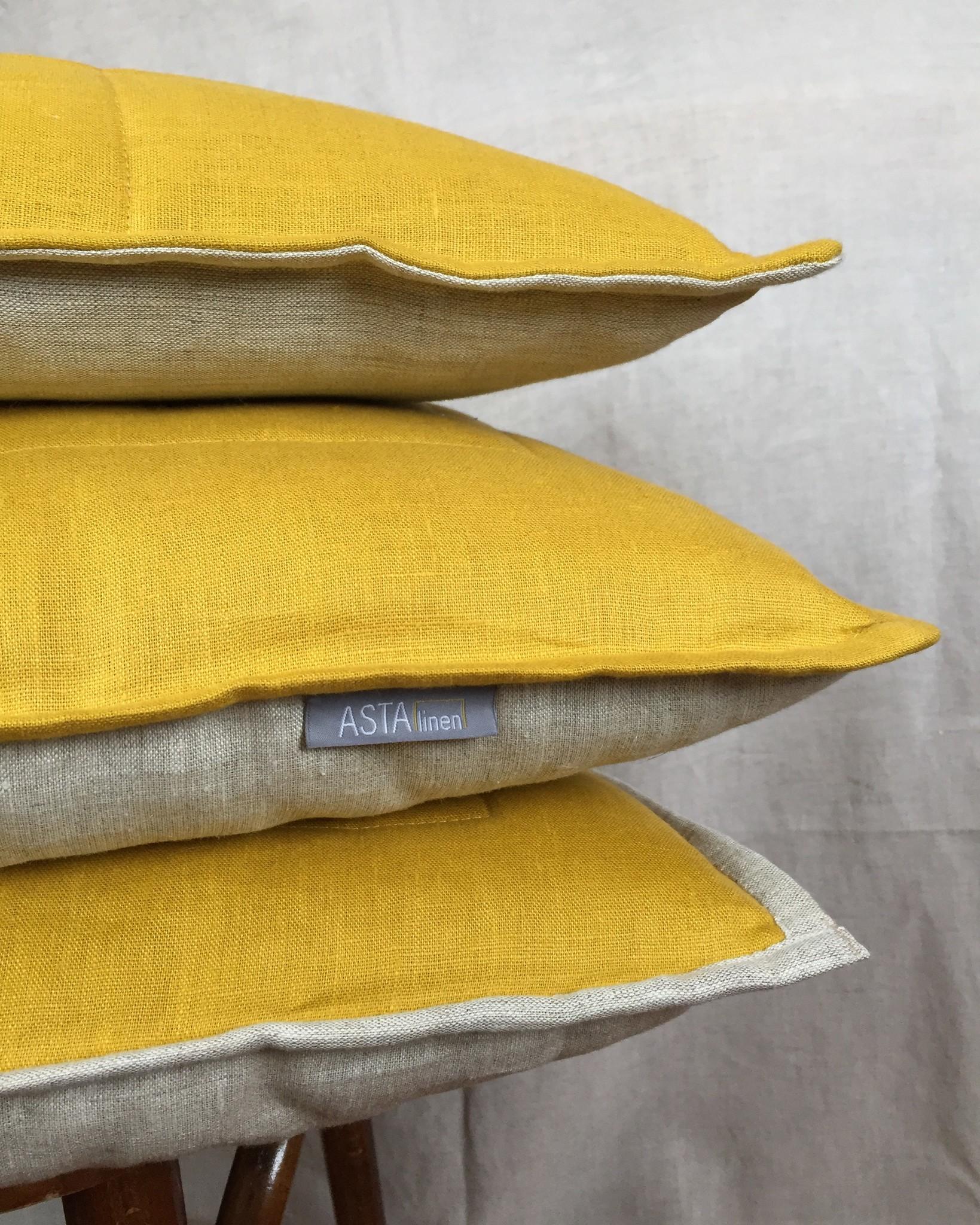 Подушка детская с льняным наполнителем и чехлом из 100% льна