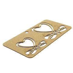 Чипборд Каллиграфические сердечки 19*10*0,1 см.