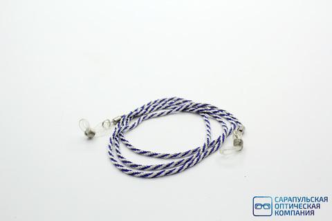 Цепочка для очков серебристо - синяя