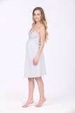 Ночная сорочка для беременных и кормящих 09978 серый