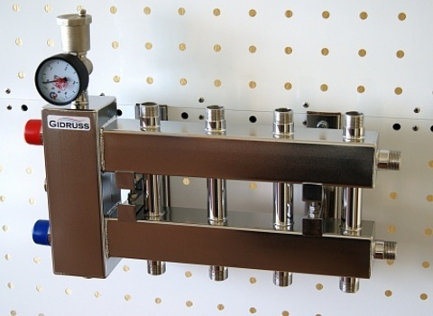 Балансировочный коллектор компактного исполнения из нержавеющей стали - Гидрусс BMKSS-60-5DU