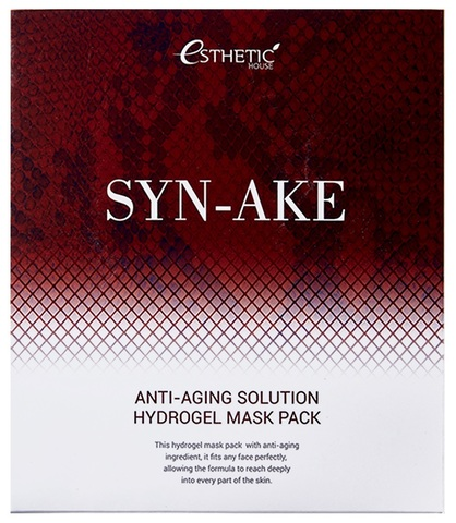 Гидрогелевая маска с змеиным пептидом ESTHETIC HOUSE Syn-Ake Anti-Aging Solution Hydrogel Mask Pack