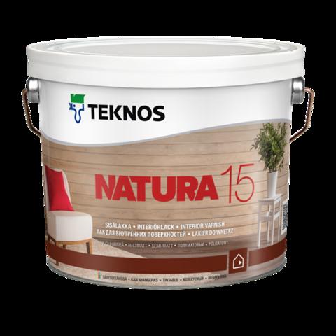 TEKNOS NATURA 15/Текнос Натура 15 Полуматовый лак для внутренних поверхностей